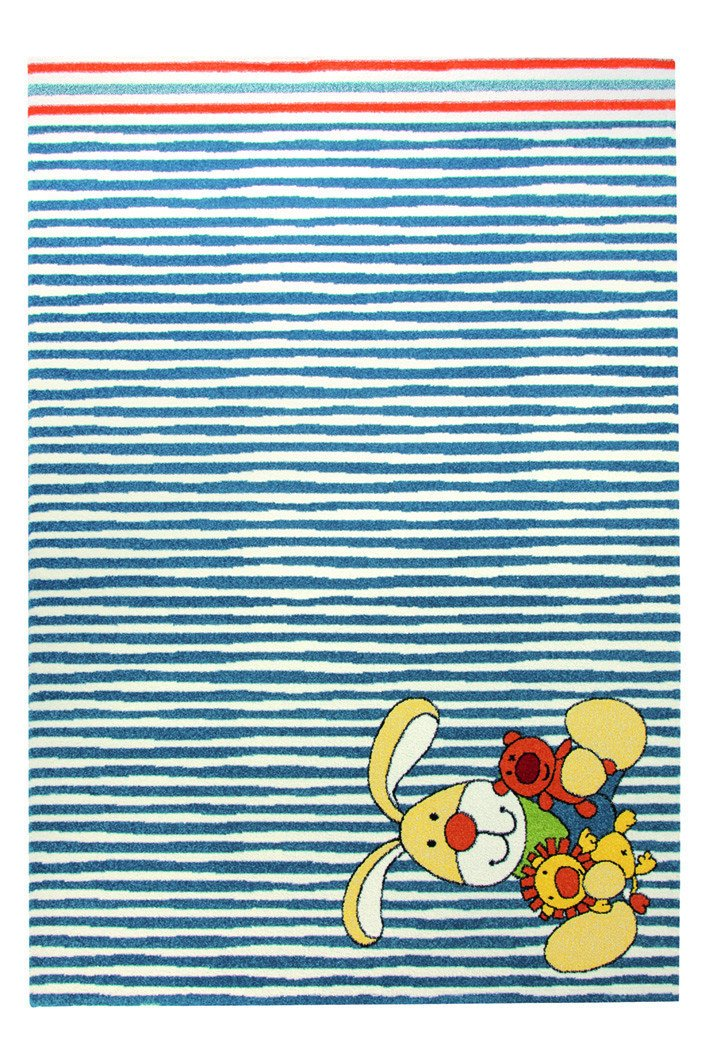 Sigikid Semmel Bunny Moderner Markenteppich, Polypropylen, Beige, 170 x 120 x 1.3 cm