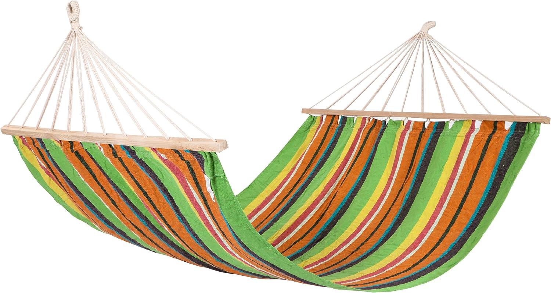 Hamaca Doble Hamaca con Flecos Hamaca Brasile/ña De Rayas Anchas Extra Largas Hamaca De Macram/é con 150 Kg con Flecos De Ganchillo Bolsa De Transporte para Jard/ín Al Aire Libre Patio Trasero
