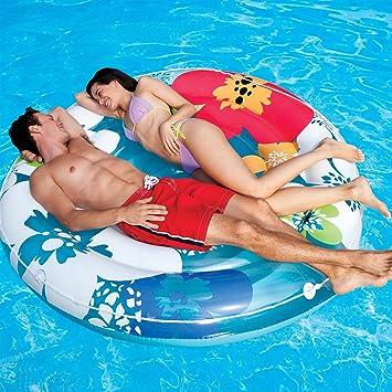 Intex Flower Island Inflatable Pool Float 74u0026quot;