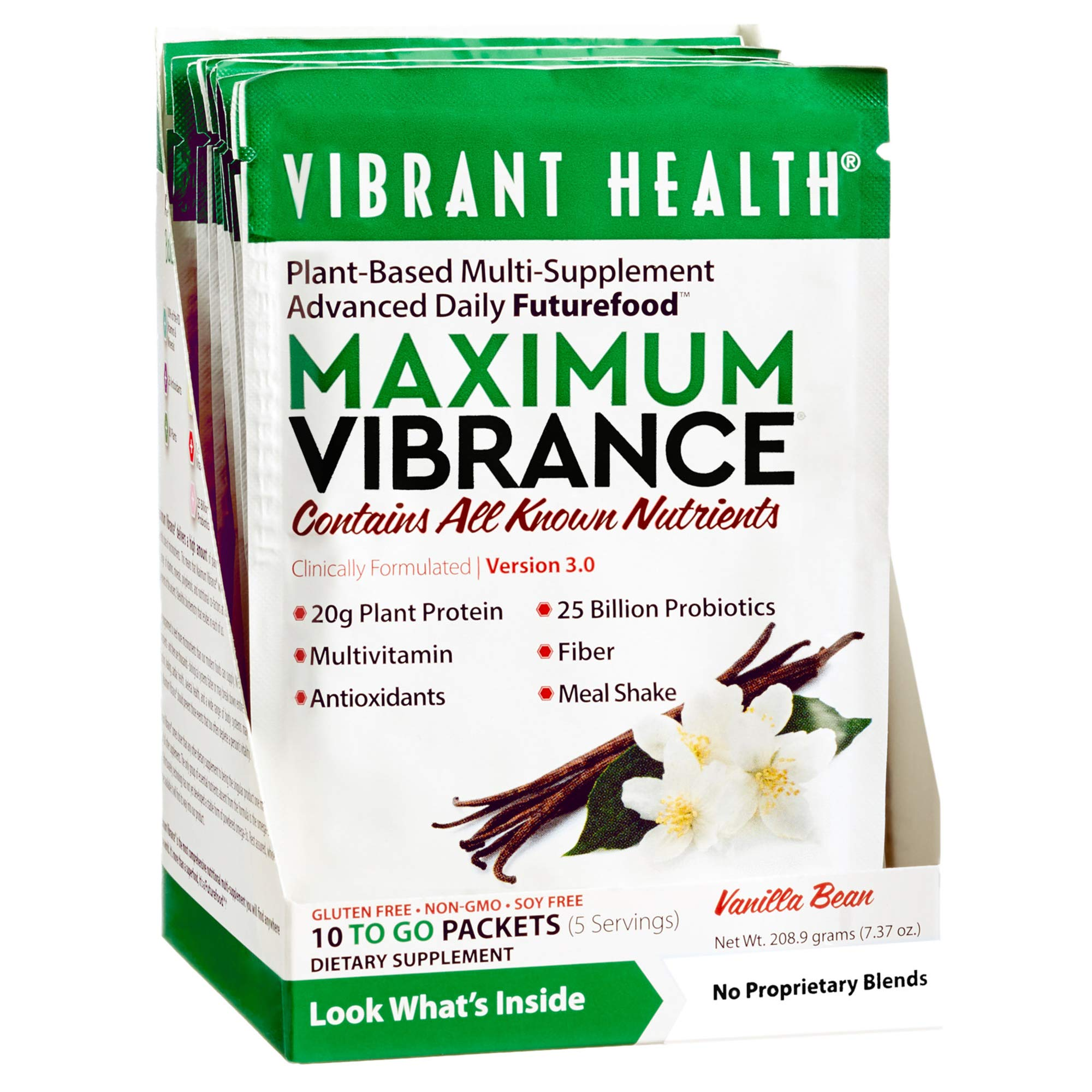 Vibrant Health - Maximum Vibrance, All in One Multi-Supplement Advanced Daily Futurefood, 10 Packets (FFP)