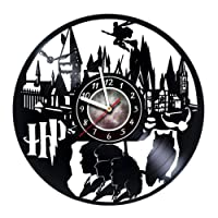 Harry Potter Merchandise - Vinyl Record Wall Clock - Hogwarts Poster - Kids Room Wall Decor - Gift Ideas for Boys and Girls, Teens, Friends - Harry Potter Stuff - Gift for him - Gift for her
