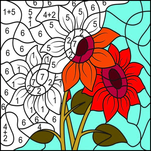 Happy Color - Flower Coloring Pixel by Number: Amazon.es
