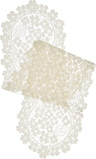 product image for Heritage Lace Dogwood Runner, 14 by 53-Inch, Ecru