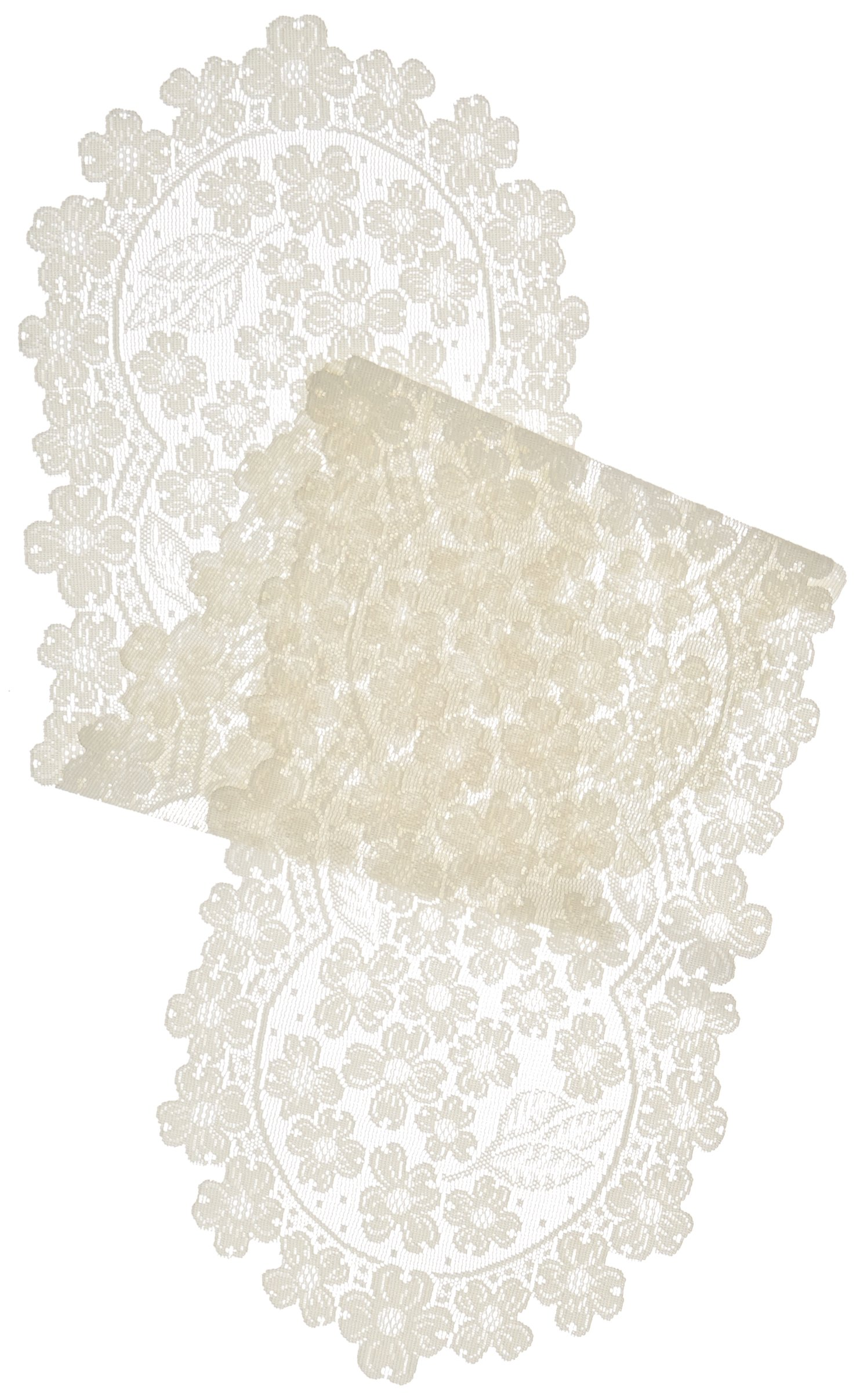 Heritage Lace Dogwood Runner, 14 by 53-Inch, Ecru