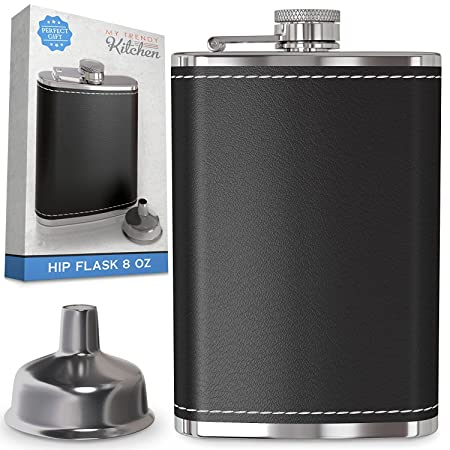 Funky Hip Flask Stainless Steel 4 Colours Vodka Brandy Cognac Whisky Alcohol