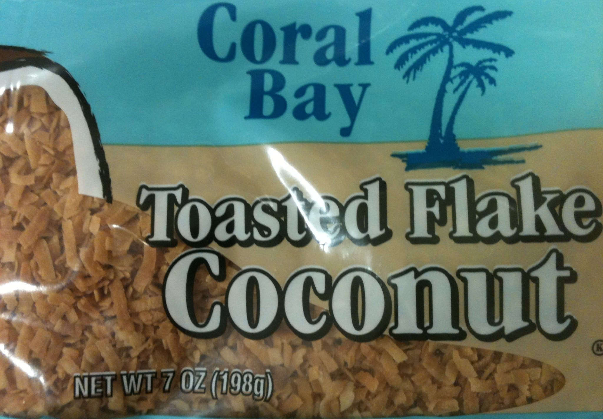 Coral Bay Toasted Flaked Coconut 7oz Bag (Pack of 6)