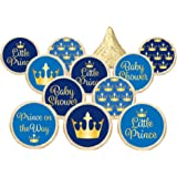 Little Prince Royal Baby Shower Party Favor Stickers - Gold and Blue (Set of 324)