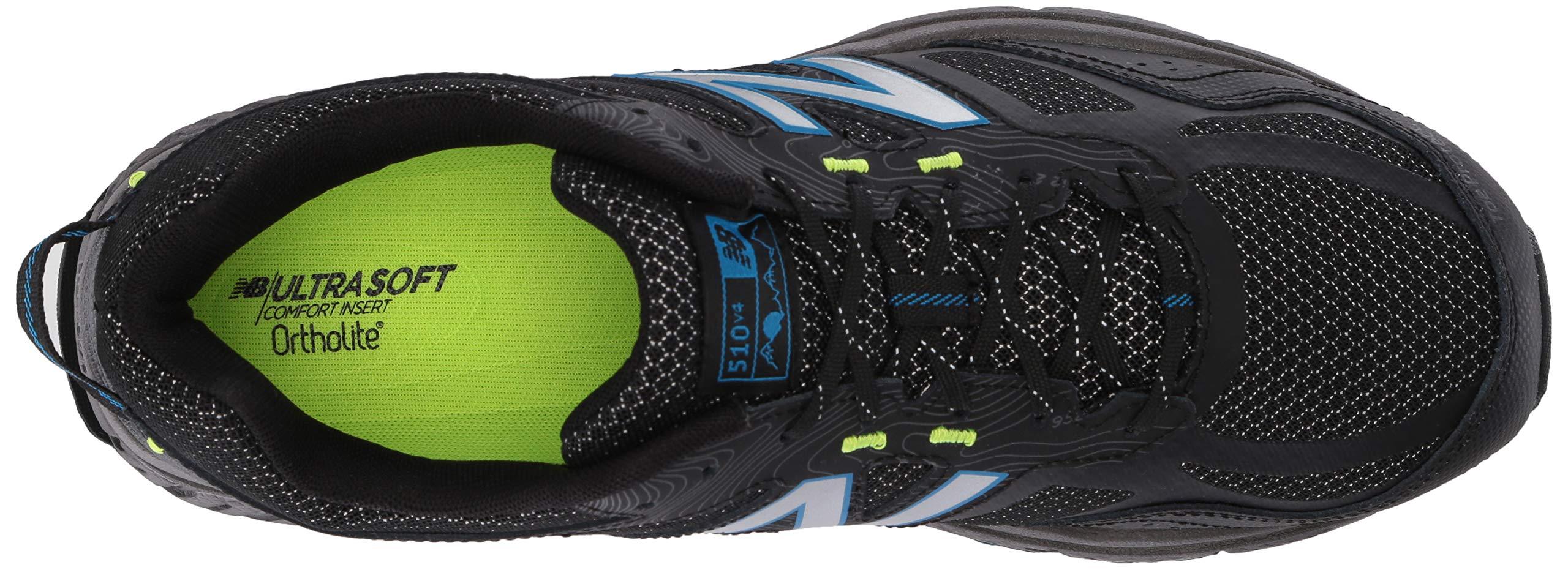 New Balance Men's 510v4 Cushioning Trail Running Shoe, Magnet/Black/Reflective, 7.5 D US by New Balance (Image #8)
