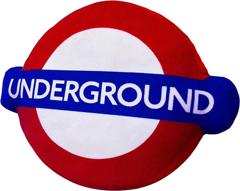London Underground 3D Logo Cushion//Pillow