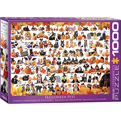 EuroGraphics 5416 Halloween Pets Puzzle (1000 Piece): Toys & Games
