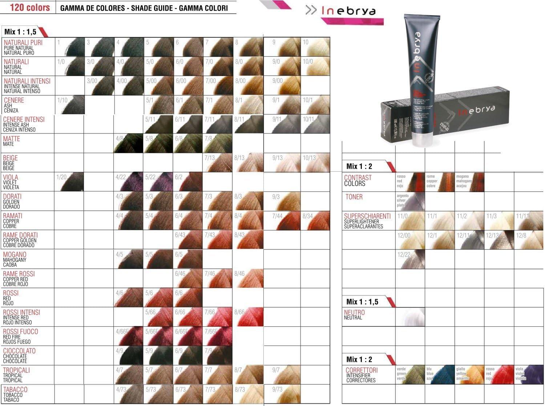 Tinte * Crema Colorante Profesional para cabello * inebrya Color * 100 ml