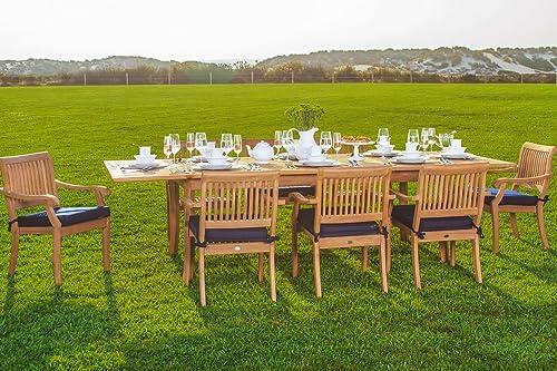WholesaleTeak New 9 Pc Luxurious Grade-A Teak Dining Set