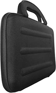 Skque Universal Multi-Functional Tablet Netbook Laptop Ultra-Portable Sleeve Business Carrying Case Bag with Handle and Accessory Pocket Fits Up to 10.2-Inch iPad Mac Windows Android Devices (Black)