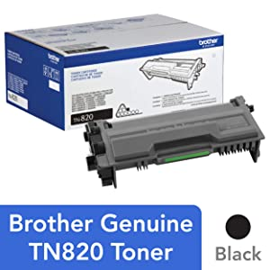 Brother Genuine Toner Cartridge, TN820, Replacement Black Toner, Page Yield Up To 3,000 Pages, Amazon Dash Replenishment Cartridge
