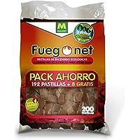 FUEGO NET Fuegonet 231281N Pastillas Ecológicas, Blanco, 27x7x40