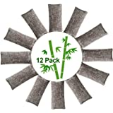 12 Packs Natural Air Purifying Bags,150g Each Pair Mini Bamboo Charcoal Bags,Shoe Deodorizer and Odor Eliminator