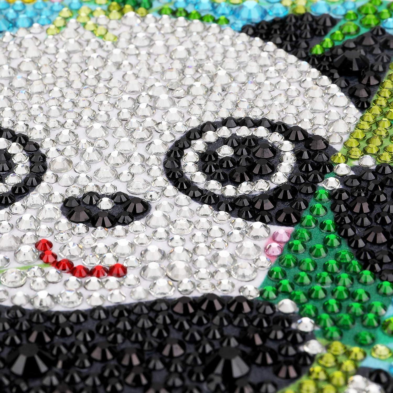 Malen nach Zahlen 12x12CM VETPW 5D Panda Diamant Malerei Set Schildkr/öte DIY Voller Diamond Painting Strass Stickerei Kreuzstich Kunst Handwerk Diamant f/ür Home Wall Wanddekoration