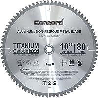 Concord Blades ACB1000T080HP 10-Inch 80 Teeth TCT Non-Ferrous Metal Saw Blade