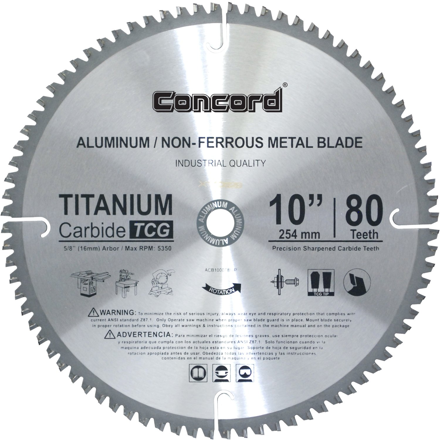 Concord blades acb1000t100hp 10 inch 100 teeth tct non ferrous metal concord blades acb1000t100hp 10 inch 100 teeth tct non ferrous metal saw blade amazon keyboard keysfo Image collections