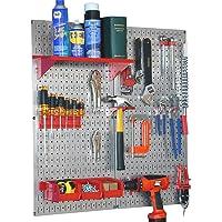 Wall Control Galvanized Steel Pegboard Tool Organizer Kit
