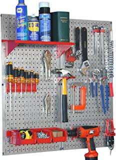 product image for Wall Control 30-WGL-200GVR Galvanized Steel Pegboard Tool Organizer,Galv/Red