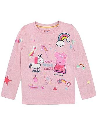 627510def Peppa Pig Girls Unicorn Long Sleeve Top: Amazon.co.uk: Clothing