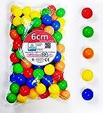 Balles plastiques multicolores pour piscine à balles, certifiées TÜV - 100 pièces