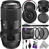 Sigma 100-400mm f/5-6.3 DG OS HSM Contemporary Lens for CANON EF w/Sigma USB Dock & Essential Photo Bundle