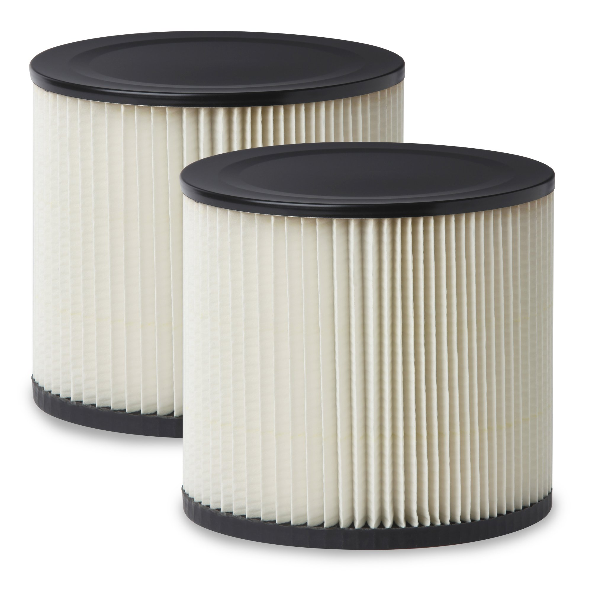 Multi-Fit Wet Dry Vac Filters VF2007TP Standard Wet Dry Vacuum Filters (2 Pack - Shop Vacuum Cleaner Filters) Fits Most 5 gallon & Larger Shop-Vac, Vacmaster & Genie Shop Vacuum Cleaners by WORKSHOP Wet/Dry Vacs