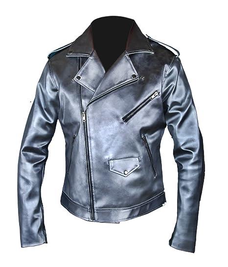 F&H Mens X-Men Apocalypse Evan Peters Quicksilver Double Rider Xmen Jacket XS Silver