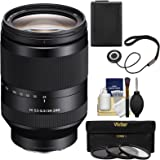 Sony Alpha E-Mount FE 24-240mm f/3.5-6.3 OSS Zoom Lens with 3 UV/CPL/ND8 Filters + Battery + Kit for A7, A7R, A7S Mark II Cameras