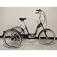 Scout Tricycle Adulte, Cadre en Alliage, Pliable, 6 Vitesses, Suspension Avant, Trike Pliant