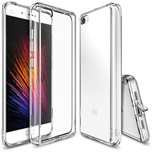 98 opinioni per Xiaomi Mi 5 Case, Ringke [FUSION] Crystal Clear PC Back TPU Bumper [Drop