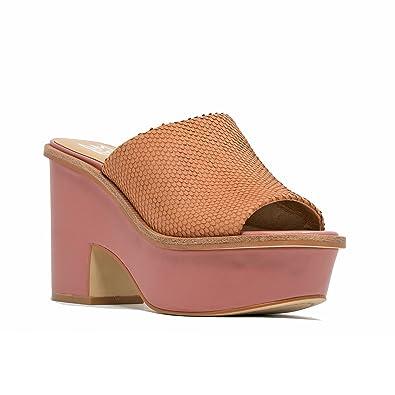 4f62fed2ad9 M4D3 Women s Slip On Platform Sandal 6 Apricot