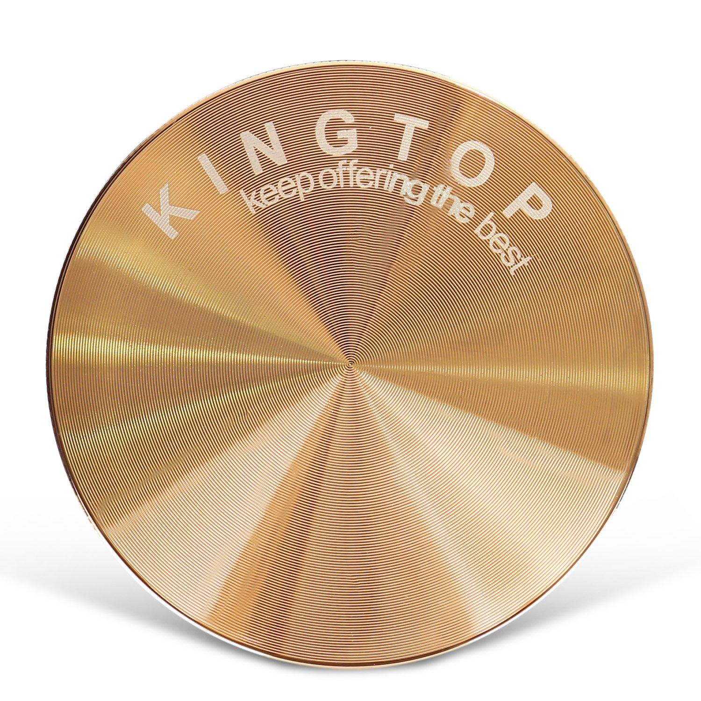 Kingtop Herb Spice Grinder Large 3.0 Inch Rose Gold by KingTop (Image #2)
