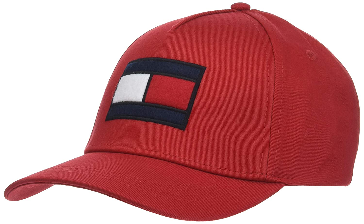 aa795c44 Tommy Hilfiger Men's SPW Flag Baseball Cap, Red (Tommy Red 614), One (Size:  OS),One Size: Amazon.ae