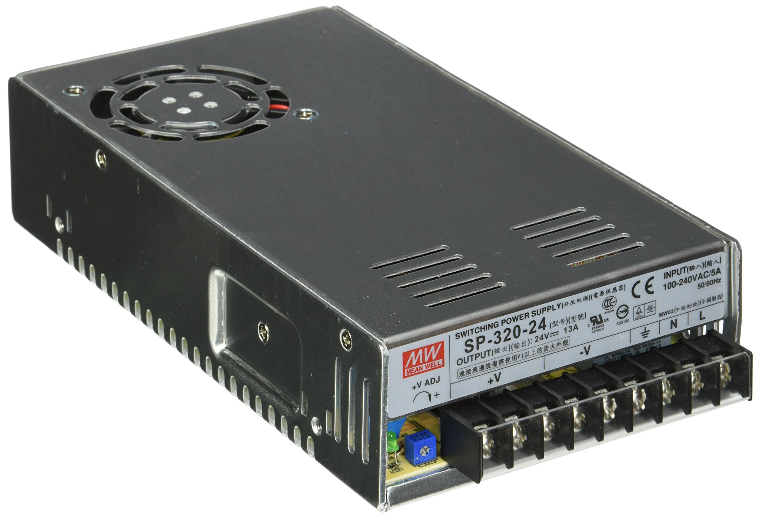 MEAN WELL SP-320-24 AC to DC Power Supply, Single Output, 24V, 13 Amp, 312W, 1.5''