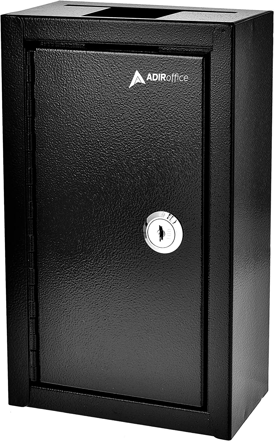 AdirOffice Large Key Drop Box – Large Capacity Commercial Grade Storage Box – Safe & Secure Parcel & Packages - for Home & Business Use (Black)
