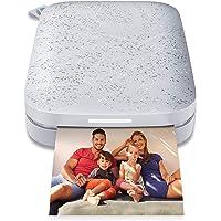 HP Zębatka przenośna 5 x 7,6 cm natychmiastowa drukarka zdjęć (Biały) wydrukuj ZINK na papierze z cynkiem z urządzeń z…