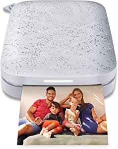"""HP Sprocket Portable 2x3"""" Instant Photo Printer (Luna Pearl) Print Pictures on Zink Sticky-Backed Paper from your iOS & Android Device."""