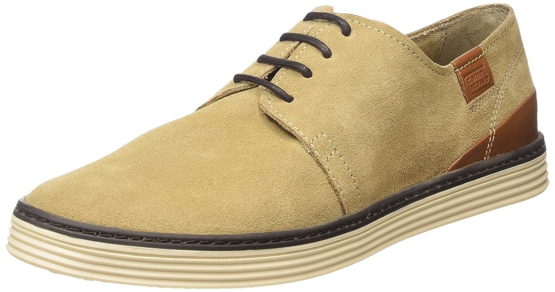 camel active Copa 21 - Zapatos con cordones de cuero Hombre 44.5 EU Beige (Cord/Brandy)