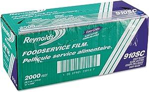 Reynolds 910SC PVC Food Wrap Film Roll in Easy Glide Cutter Box 12-Inch x 2000 ft Clear