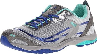 RYKA Women's Fit Pro Cross-Training Shoe,Dark Grey/Grey/Medium Blue