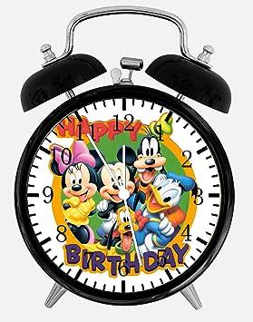 """Disney Mickey Mouse cumpleaños alarma reloj de mesa 3.75 """"decoración de la casa u"""