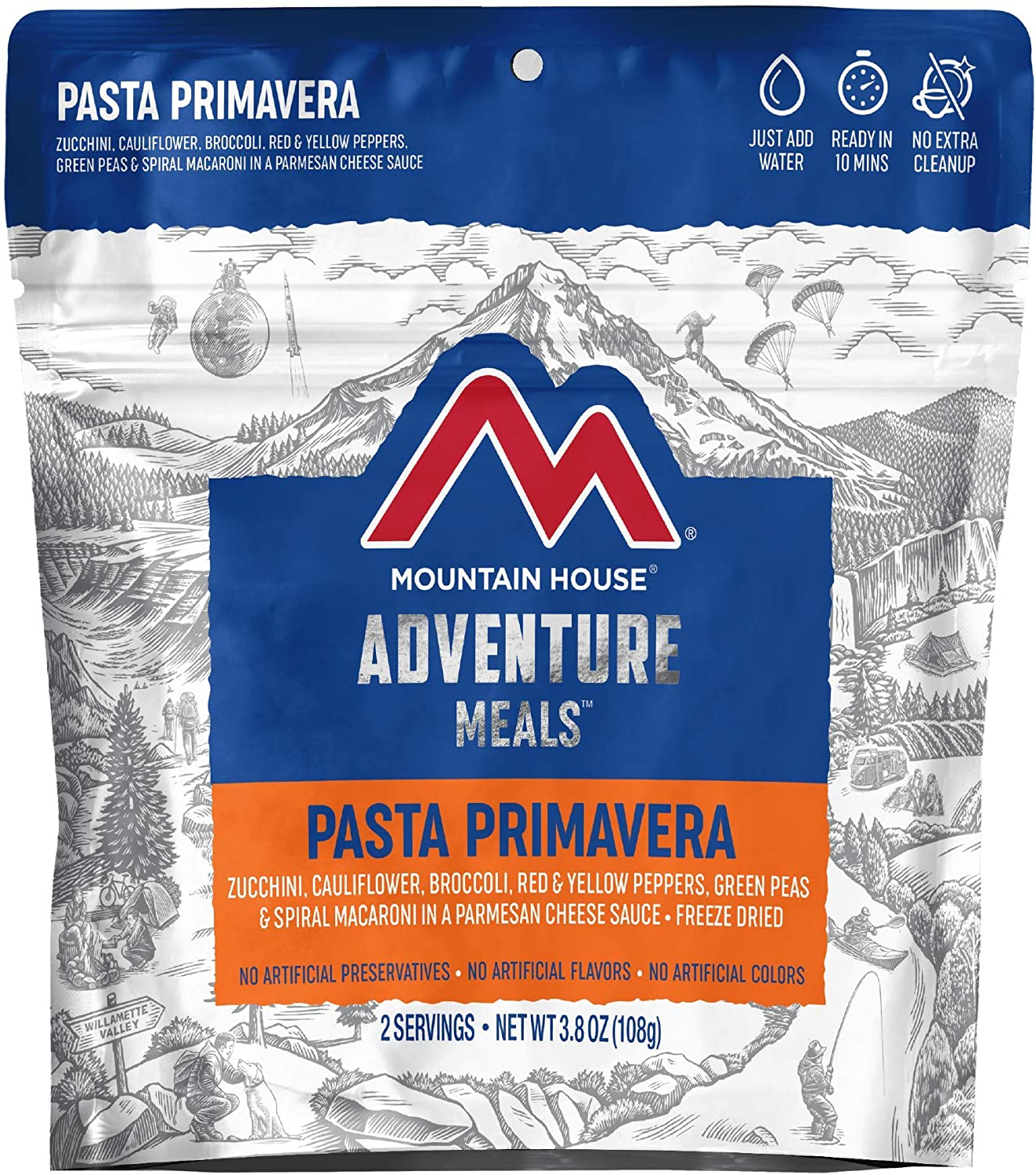 Mountain House Pasta Primavera | Freeze Dried Backpacking & Camping Food