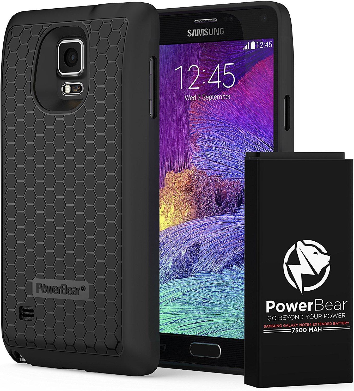 Funda Con Bateria de 7500mah para Samsung Galaxy Note 4 POWERBEAR [9652676764]