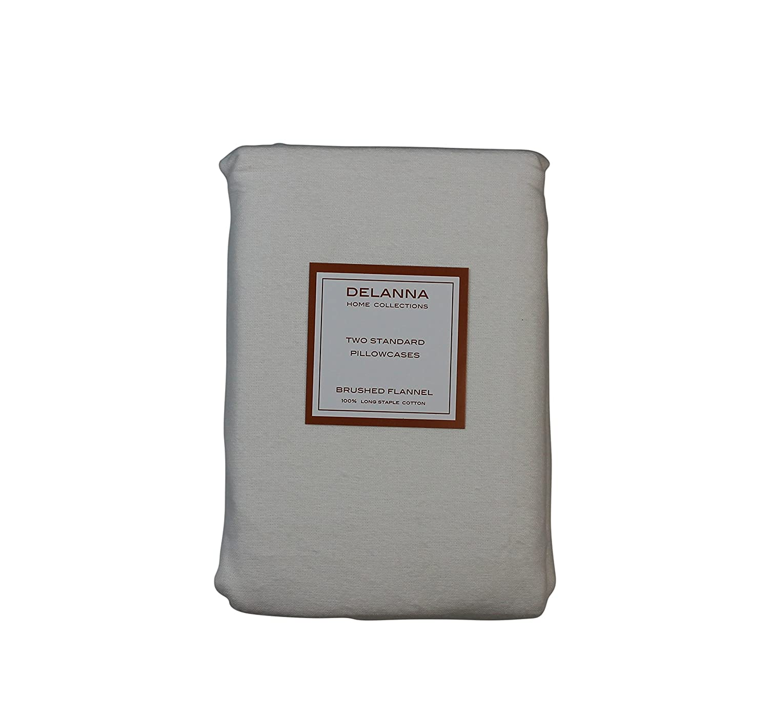 Amazon.com: FLANNEL PILLOWCASES by DELANNA, 100% Cotton, Brushed on ...