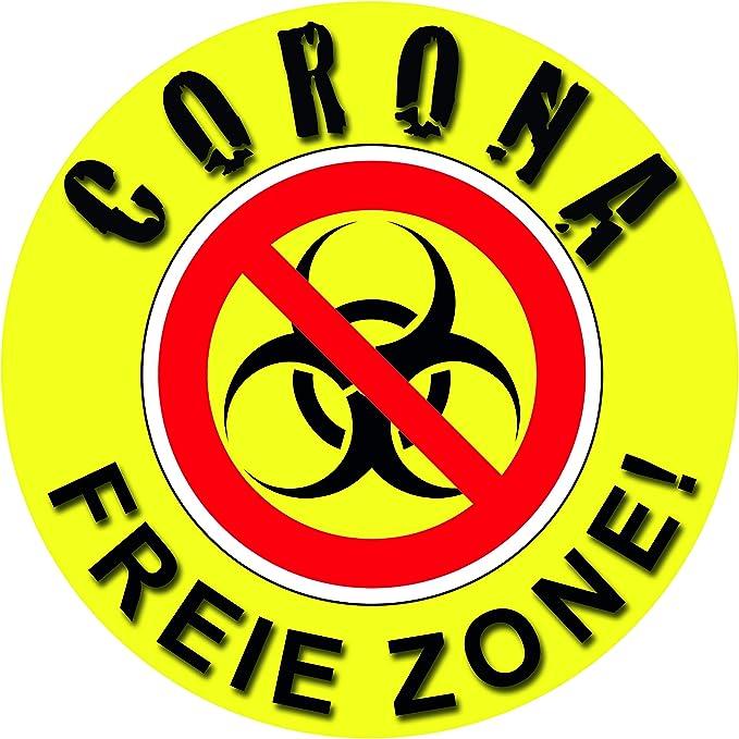 1a Style Sticker Corona Virus Aufkleber Virus Corona Freie Zone Auto