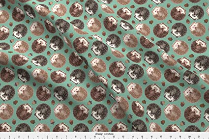 6f8b1c58 Amazon.com: Spoonflower Hedgehog Fabric Hedgehog Scatter Moss by ...
