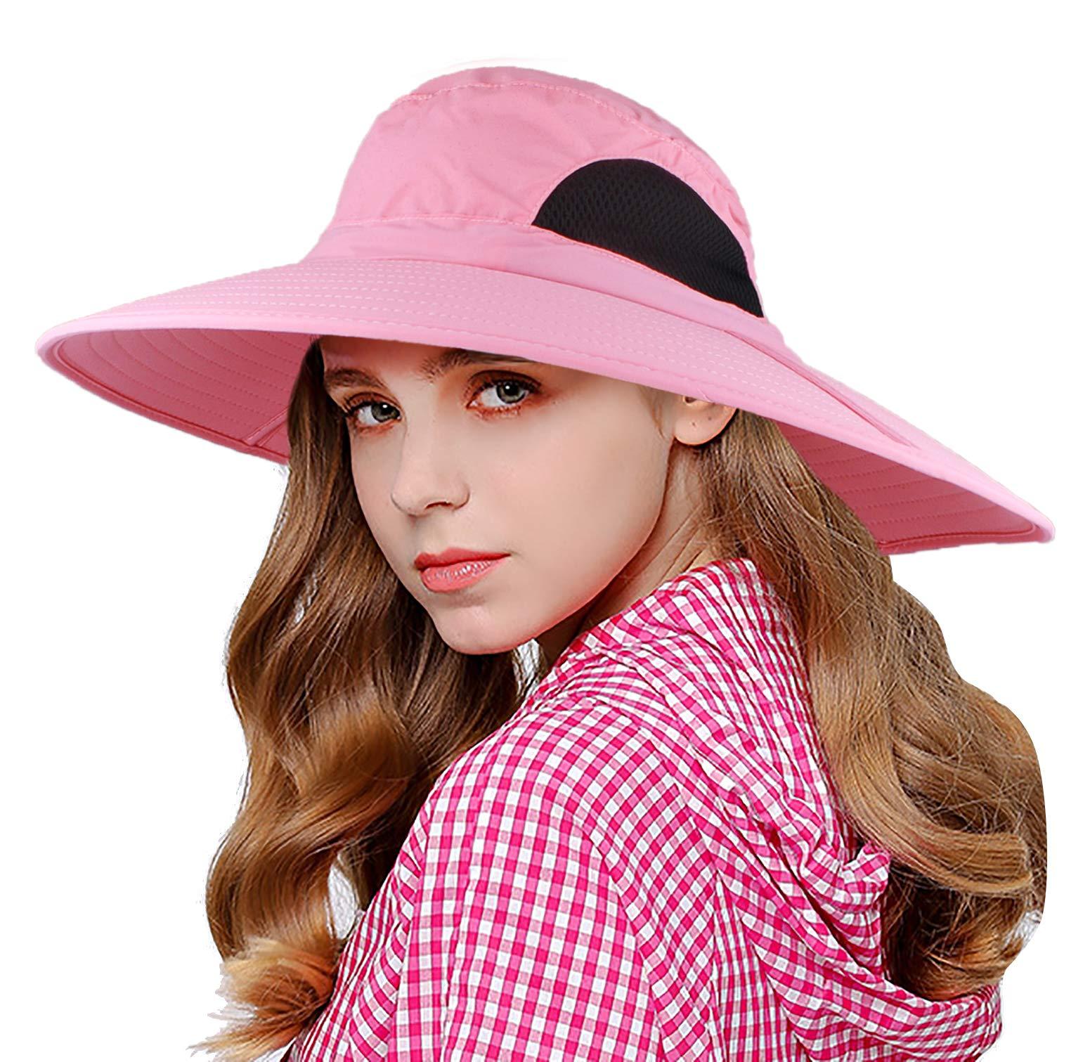 172edfa17cd EINSKEY Wide Brim Sun Hat Summer UV Protection Beach Hat Showerproof Safari  Boonie Hat Foldable Fishing